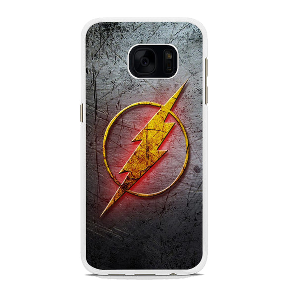 Flash Light Grey Logo Samsung Galaxy S7 Edge Case