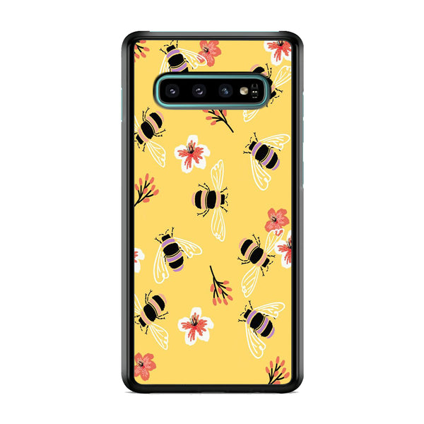 Flowers Bee Yellow Samsung Galaxy S10 Case