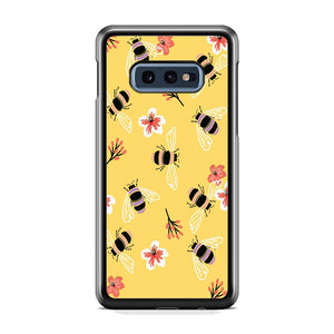 Flowers Bee Yellow Samsung Galaxy S10E Case