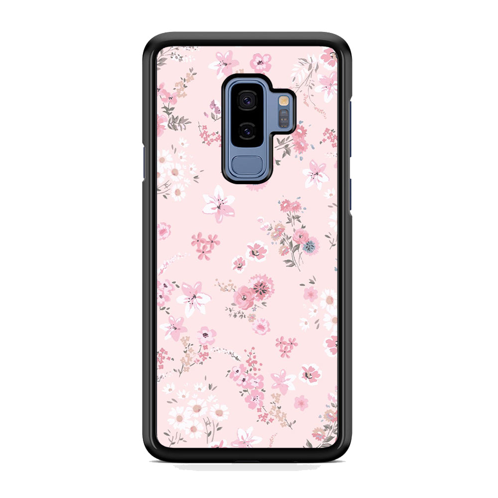 Flowers Pink Colour Samsung Galaxy S9 Plus Case