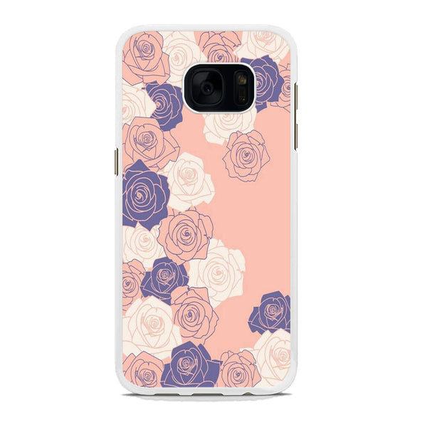 Flowers Rose Paper Flowers Samsung Galaxy S7 Edge Case
