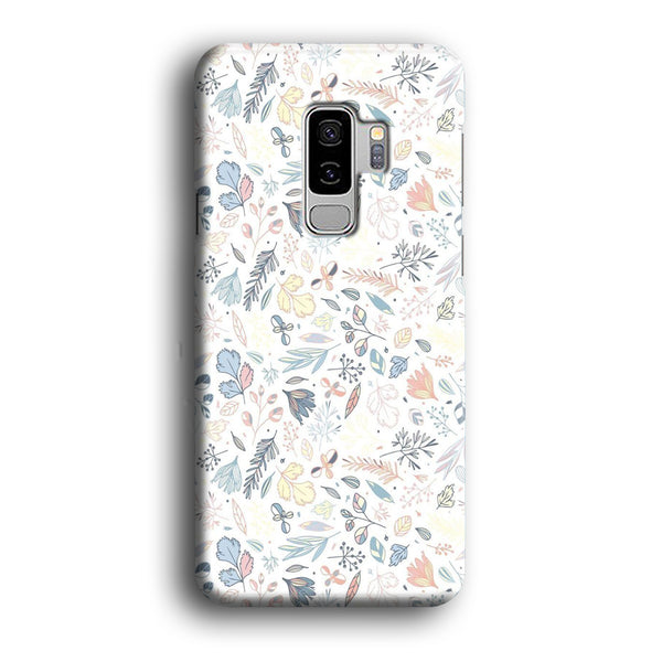 Flowers White Wallpaper Samsung Galaxy S9 Plus Case