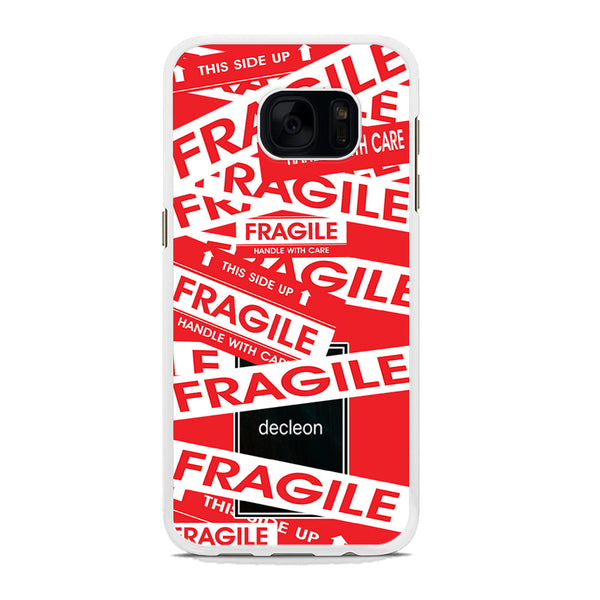 Fragile Decleon Red Scarlet Samsung Galaxy S7 Edge Case