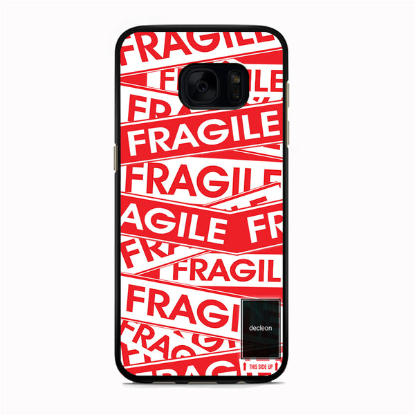 Fragile Label Decleon Frame Samsung Galaxy S7 Edge Case