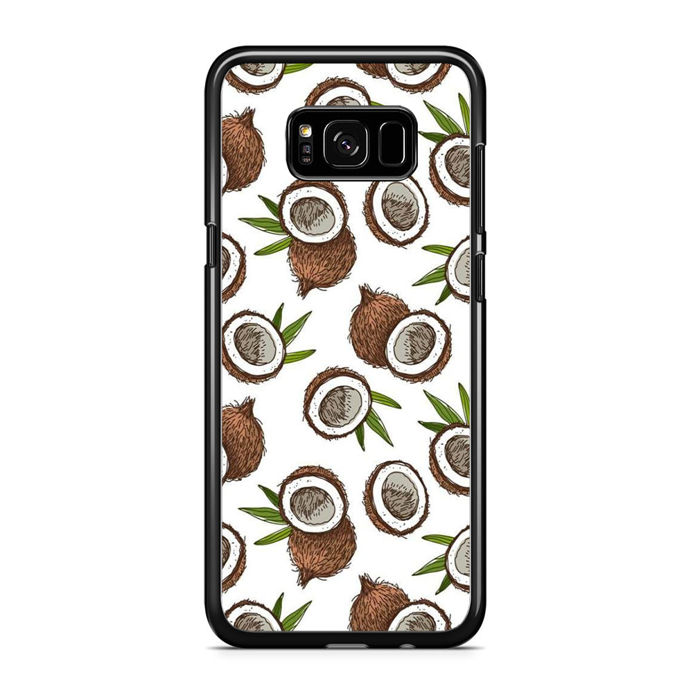 Fruit Coconut Doodle Samsung Galaxy S8 Plus Case