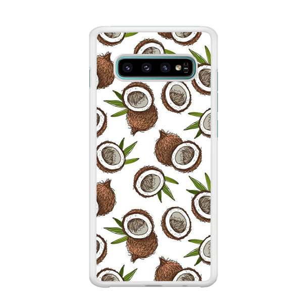 Fruit Coconut Doodle Samsung Galaxy S10 Plus Case