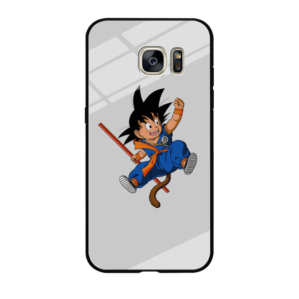 Goku Vanila White Wallpaper Samsung Galaxy S7 Case