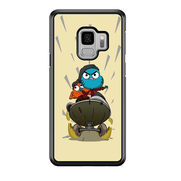 Gumall And Darwin Playing Skate Samsung Galaxy S9 Case