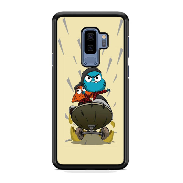 Gumall And Darwin Playing Skate Samsung Galaxy S9 Plus Case