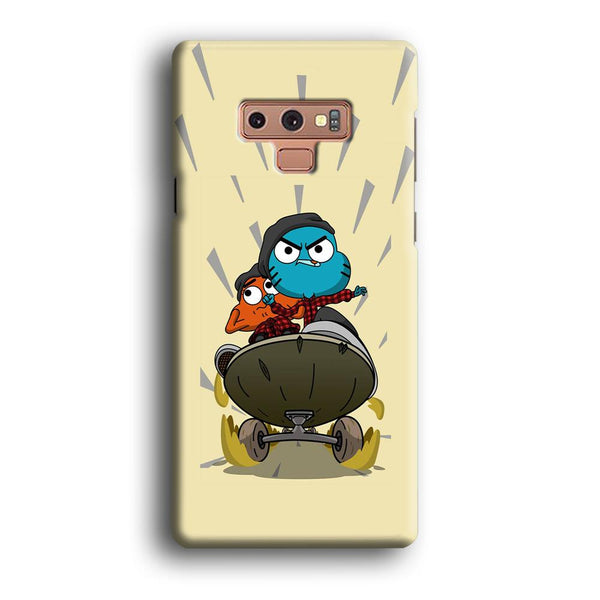 Gumall And Darwin Playing Skate Samsung Galaxy Note 9 Case