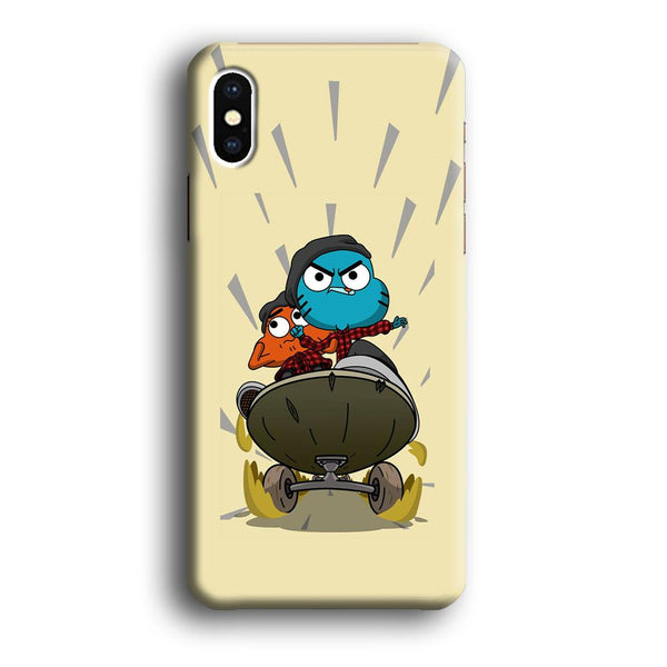 Gumall And Darwin Playing Skate iPhone XS MAX Case
