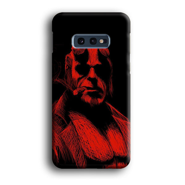 Hellboy Red Silhouette Samsung Galaxy S10E Case