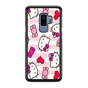 Hello Kitty Stripe Pink Samsung Galaxy S9 Plus Case