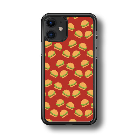 Junk Food Burger Doodle iPhone 11 Case