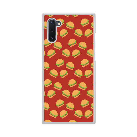 Junk Food Burger Doodle Samsung Galaxy Note 10 Case