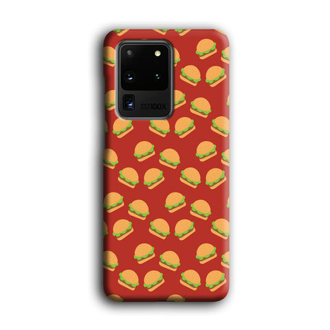 Junk Food Burger Doodle Samsung Galaxy S20 Ultra Case