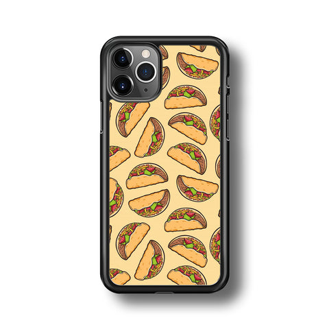 Junk Food Spicy Tacos iPhone 11 Pro Case