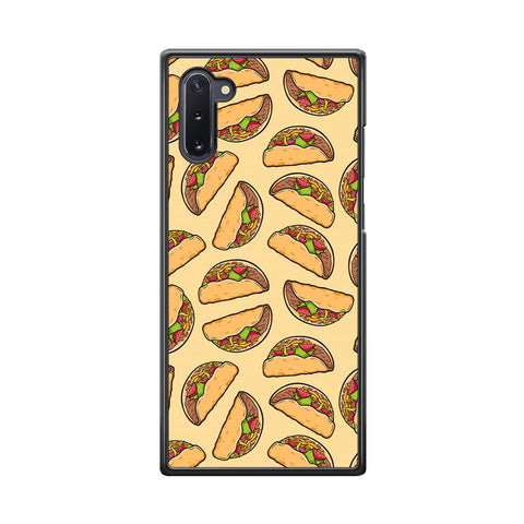 Junk Food Spicy Tacos Samsung Galaxy Note 10 Case