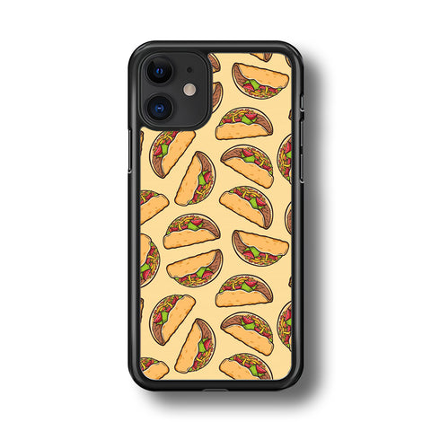 Junk Food Spicy Tacos iPhone 11 Case