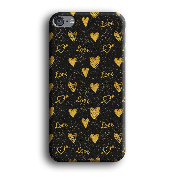 Love in Gold iPod Touch 6 Case