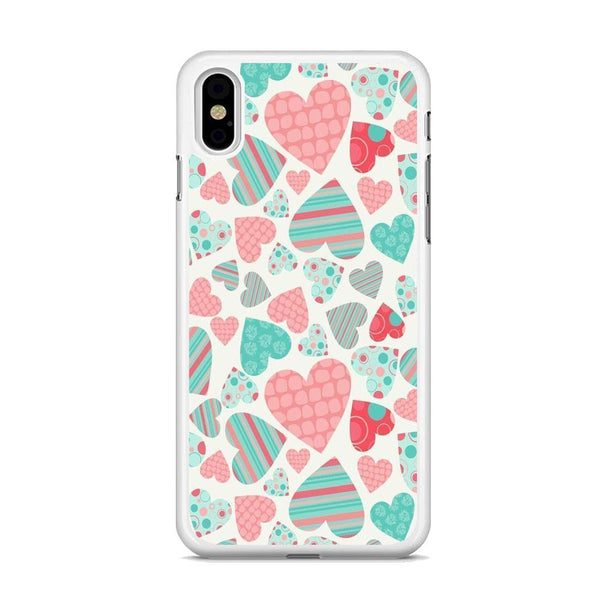 Love in Strip, Rock and Dot iPhone XS Case