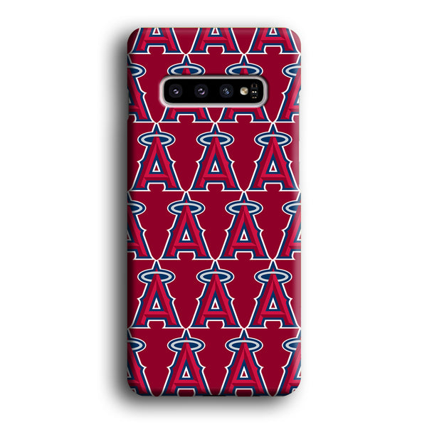 MLB Los Angeles Angles Doodle Logo Samsung Galaxy S10 Plus Case