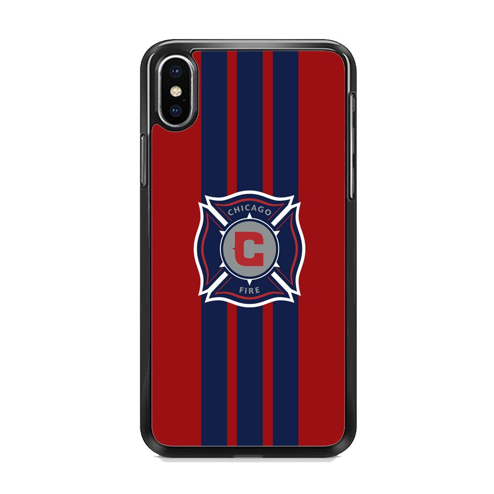 MLS Chicago Fire Stripe iPhone XS MAX Case