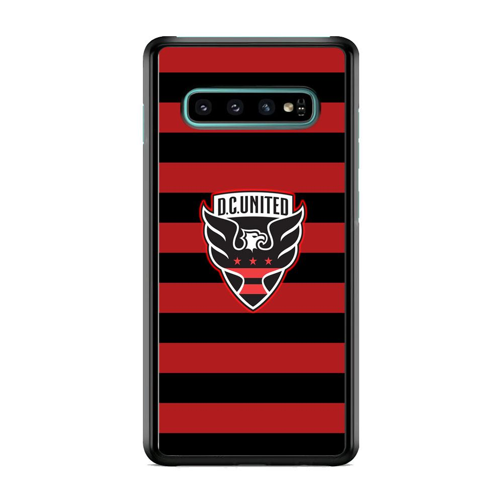 MLS DC United Black Red Logo Samsung Galaxy S10 Case