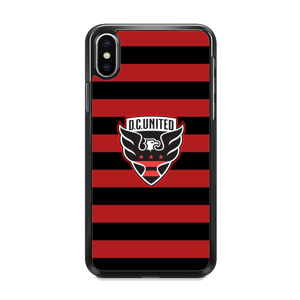 MLS DC United Black Red Logo iPhone XS Case