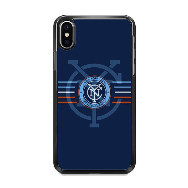 MLS New York City Logo Navy Blue Stripe iPhone X Case