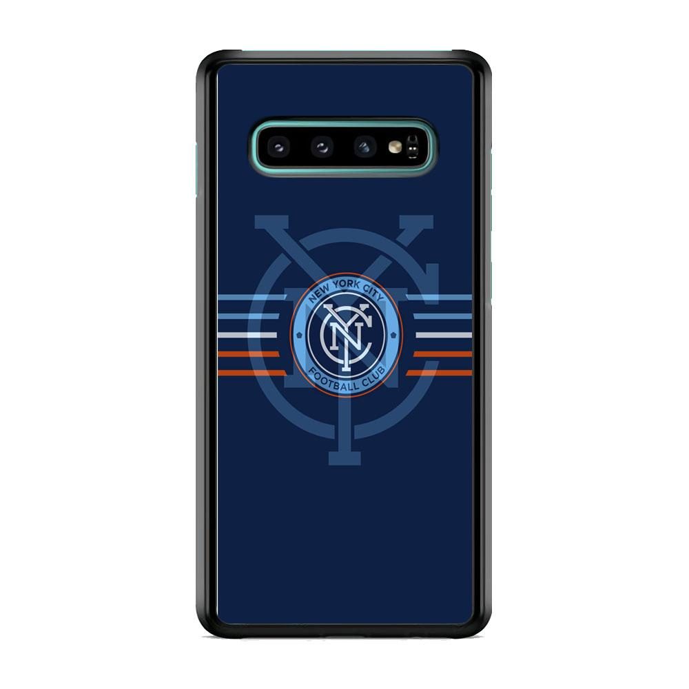 MLS New York City Logo Navy Blue Stripe Samsung Galaxy S10 Case