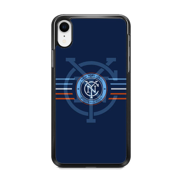 MLS New York City Logo Navy Blue Stripe iPhone XR Case