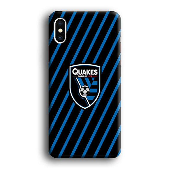MLS San Jose Quakes Logo iPhone XS MAX Case