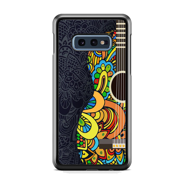 Music Guitar Flowers Art Samsung Galaxy S10E Case