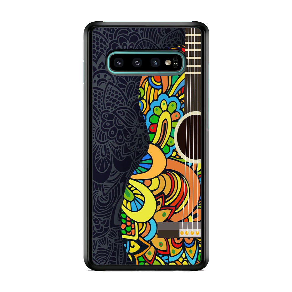 Music Guitar Flowers Art Samsung Galaxy S10 Plus Case