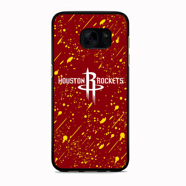 NBA Houston Rocket Red Paint Samsung Galaxy S7 Edge Case