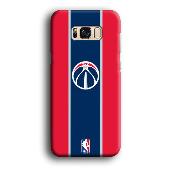 NBA Washington Wizards Logo Stripe Colours Samsung Galaxy S8 Plus Case