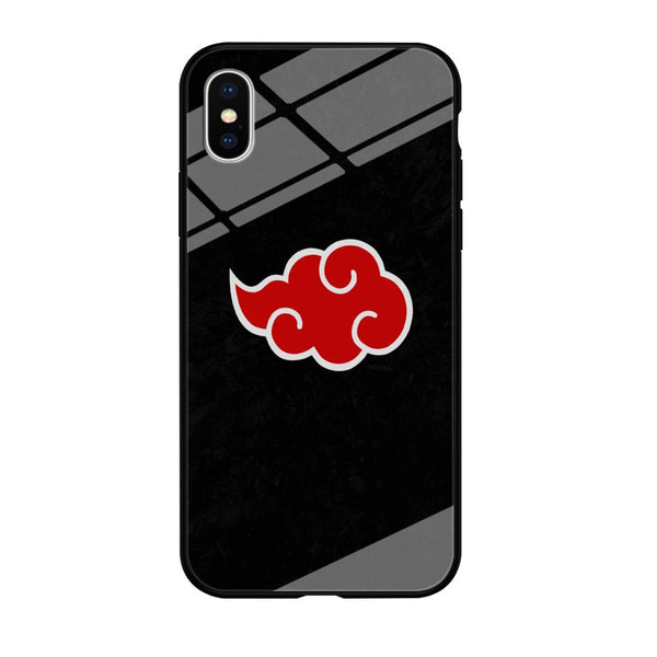 Naruto Akatsuki Simple Logo Black Abstract iPhone XS MAX Case