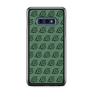 Naruto Konoha Symbol Green Wallpaper Samsung Galaxy S10E Case