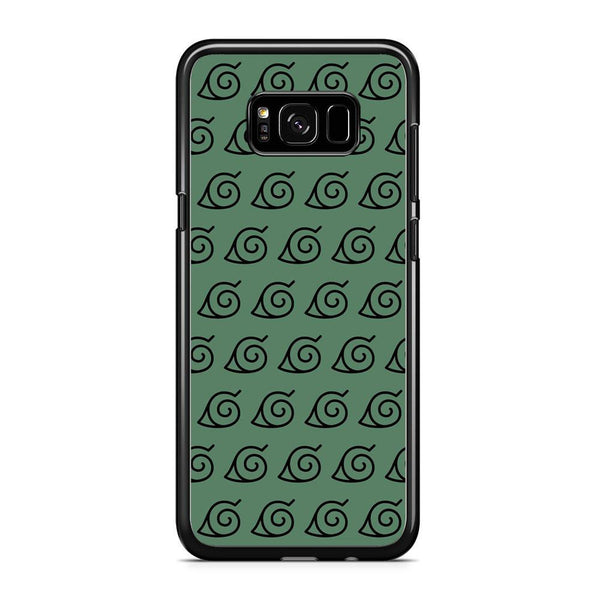 Naruto Konoha Symbol Green Wallpaper Samsung Galaxy S8 Case