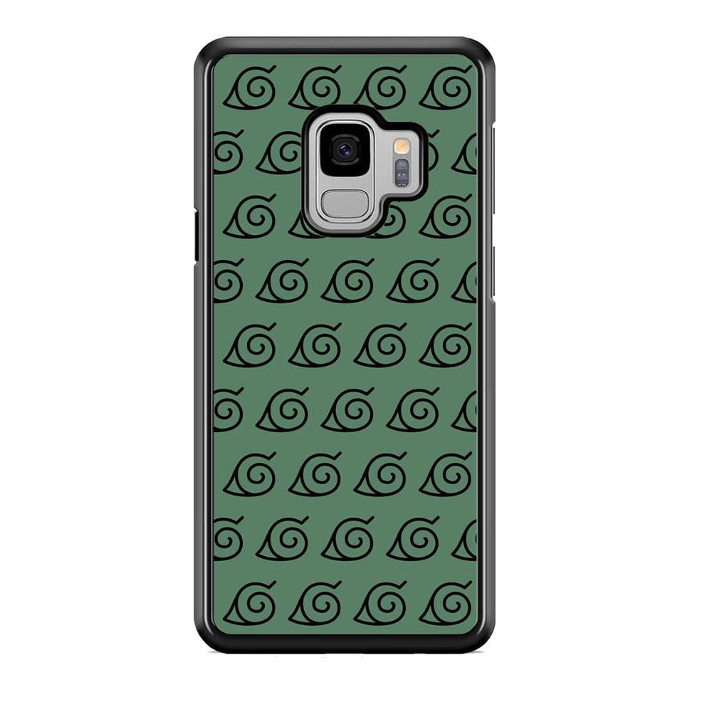 Naruto Konoha Symbol Green Wallpaper Samsung Galaxy S9 Case