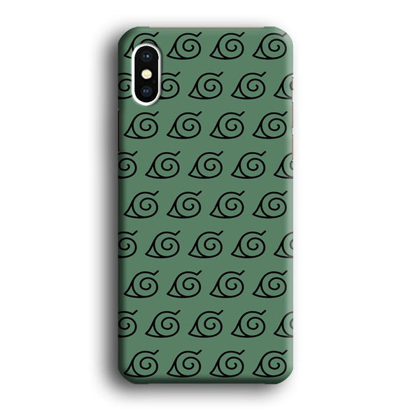 Naruto Konoha Symbol Green Wallpaper iPhone XS MAX Case