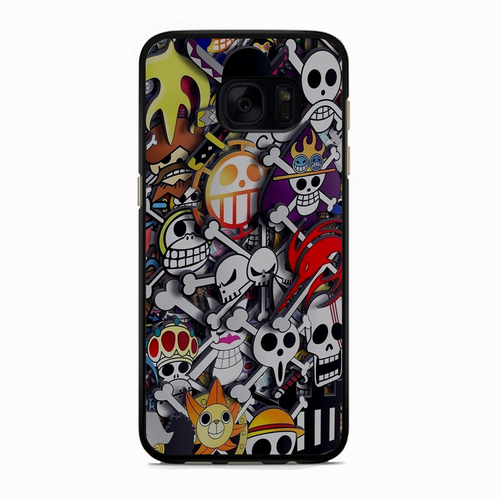 One Piece Mix Emblem Samsung Galaxy S7 Edge Case