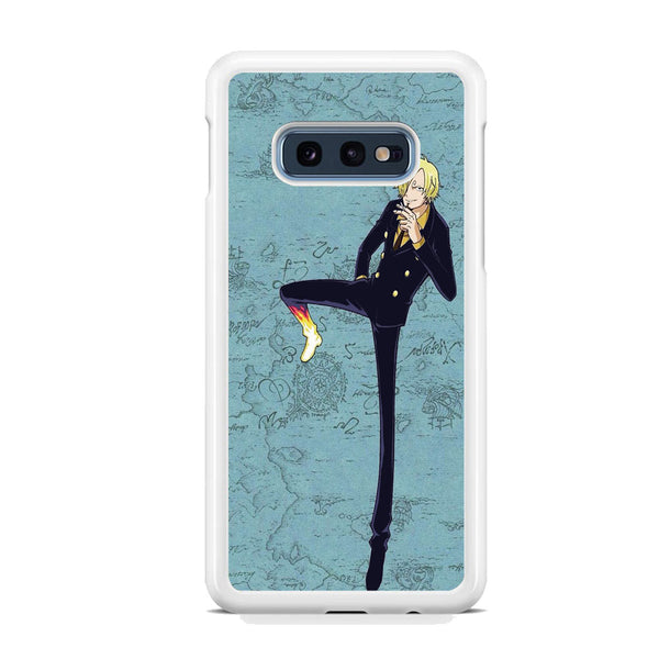 One Piece Sanji And Map Samsung Galaxy S10E Case
