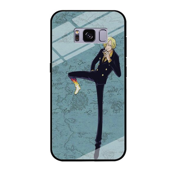 One Piece Sanji And Map Samsung Galaxy S8 Case