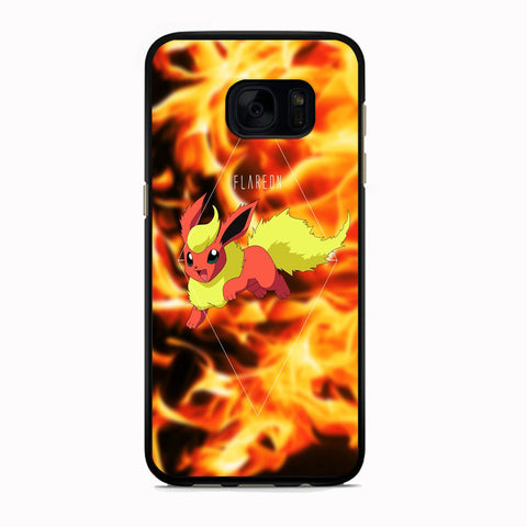 Pokemon Flareon Fire Element Samsung Galaxy S7 Case