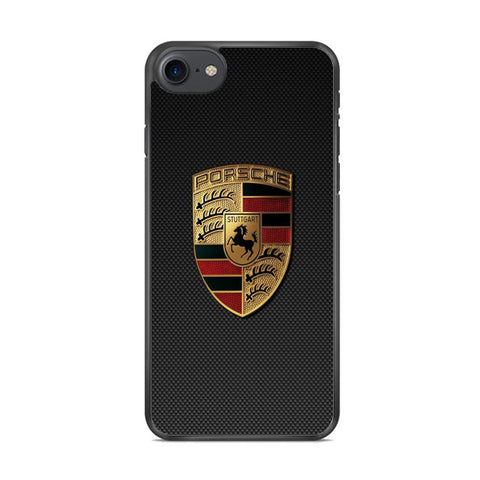 Porche Black Carbon Emblem iPhone 8 Case