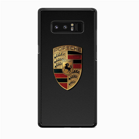 Porche Black Carbon Emblem Samsung Galaxy Note 8 Case