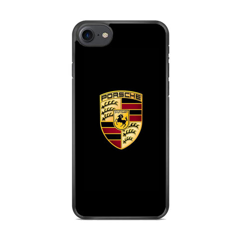 Porche Black Logo iPhone 8 Case
