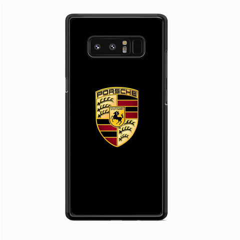 Porche Black Logo Samsung Galaxy Note 8 Case